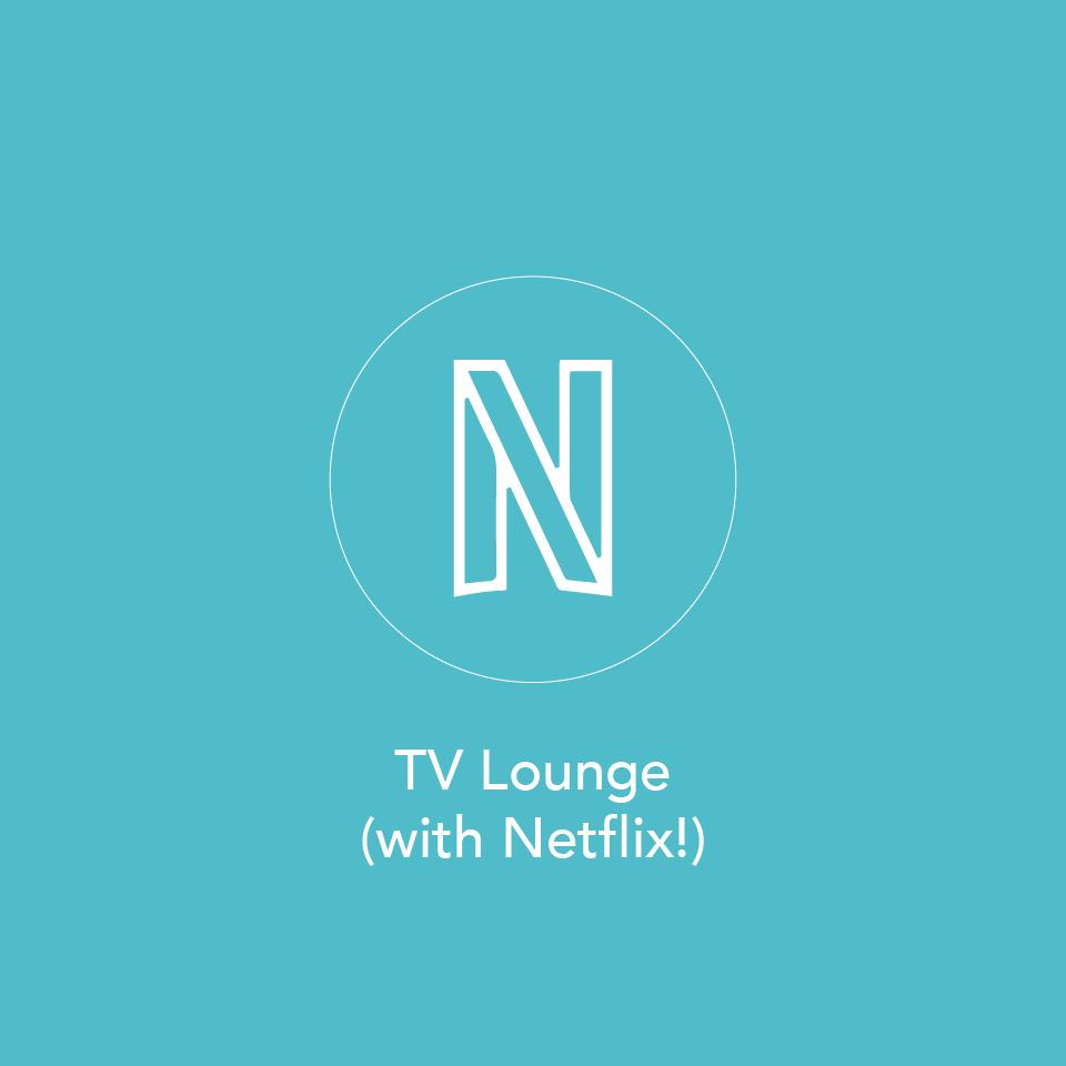 TV room with Netflix